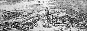 Sponheim - Abbey of Sponheim c. 1650