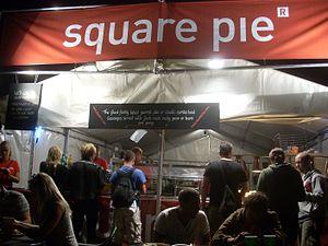 Square Pie - Square pie stall at Glastonbury 2009