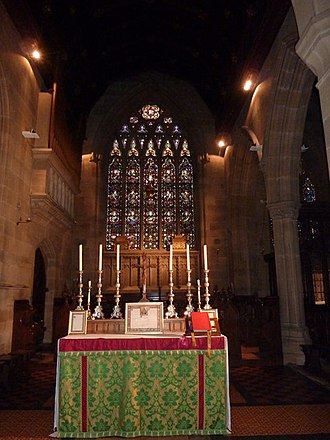 St Augustine's Church, Ramsgate - Image: St Augustine's Abbey altar by Pam Fray Geograph 2705786
