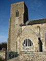 St Botolph's Church in Barford - porch and tower - geograph.org.uk - 675524.jpg