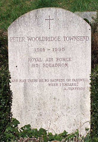 Peter Townsend (RAF officer) - Stele of the grave in the churchyard of Saint-Léger-en-Yvelines, France.