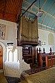 St Mary's Church, Stapleford Tawney, Essex, England ~ pulpit and church organ.jpg