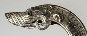 National Museum of Scotland - Detail of chape from the St Ninian's Isle Treasure