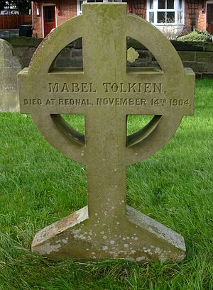 Tolkien family - St Peter's Catholic Church, Bromsgrove: grave of Mabel Tolkien (1870–1904)