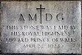 St Saviour, Old Oak Road. London W3 - Foundation stone - geograph.org.uk - 1716659.jpg