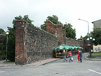 Fragment murów obronnych
