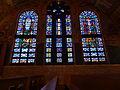 Stained glass windows, southeast wall; Transfiguration Greek Orthodox Church; Lowell, MA; 2012-05-19.jpg