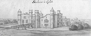 Starborough Castle - The medieval castle, c. 1640