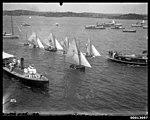 Start of a race of class 'A' skiffs on Sydney Harbour (7390062330).jpg