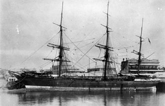 Port of Maryborough - Eastminster in the late 1880s, at Walker's Wharf, Maryborough