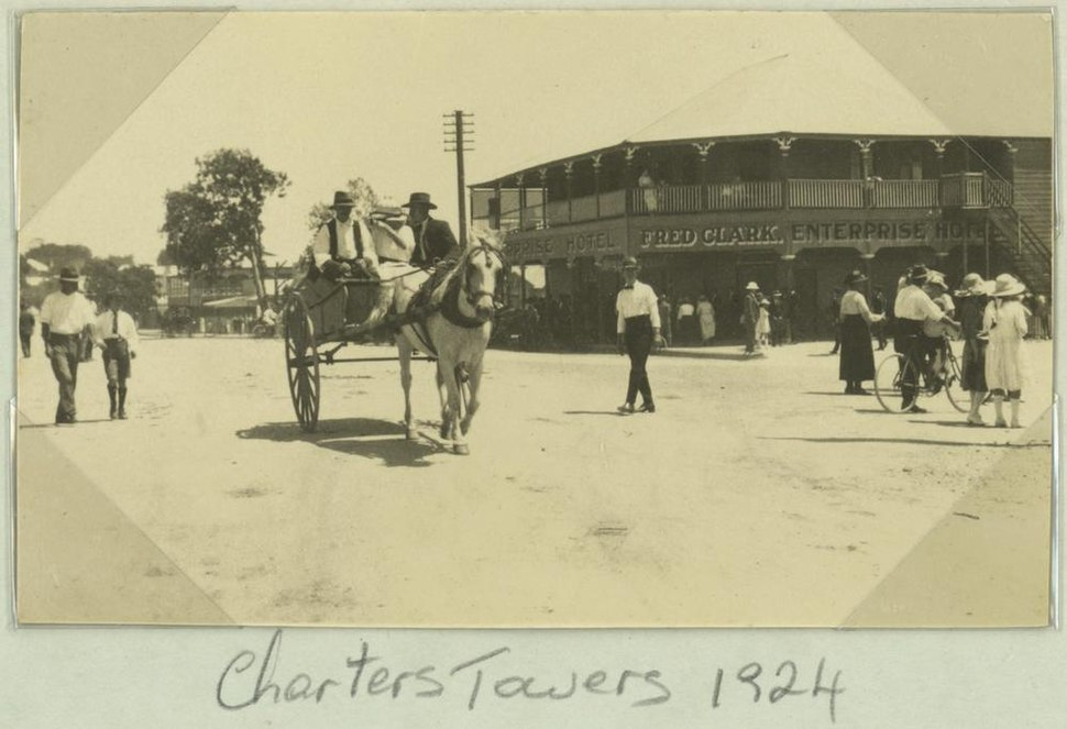 StateLibQld 1 259245 Main street of Charters Towers, 1924