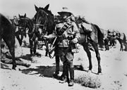 StateLibQld 2 185147 Member of the Australian 2nd Light Horse on active duty in the Middle East, ca. 1917