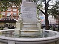 Statue of William Shakespeare at the centre of Leicester Square Gardens, London (4039923882).jpg