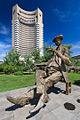 Statuie Caragiale - Hotel Intercontinental.jpg