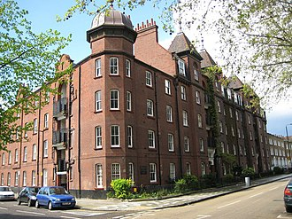 East End Dwellings Company - Dunstan Houses, Stepney Green, London E1, built by the East End Dwellings Company in 1899
