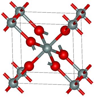 Stishovite - Crystal structure of stishovite