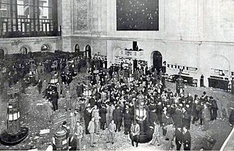 New York Stock Exchange - The floor of the New York Stock Exchange in 1908