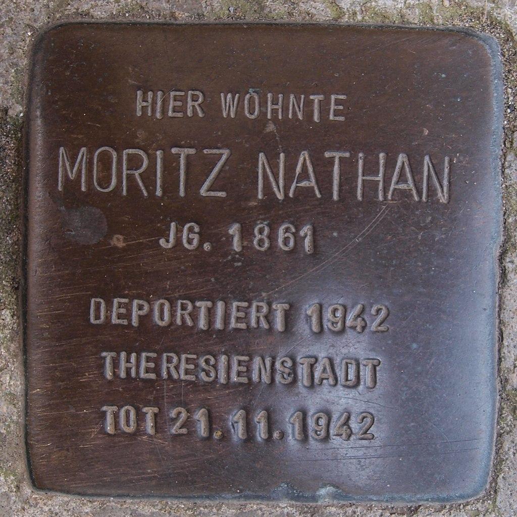 Stolperstein Bingen Am Burggraben 1 Moritz Nathan.jpg