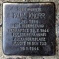 Stolperstein Bornemannstr 14 (Gesbr) Paul Knorr.jpg