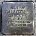 Stolperstein Dortmunder Str 6 (Moabi) Paula Cronheim.jpg