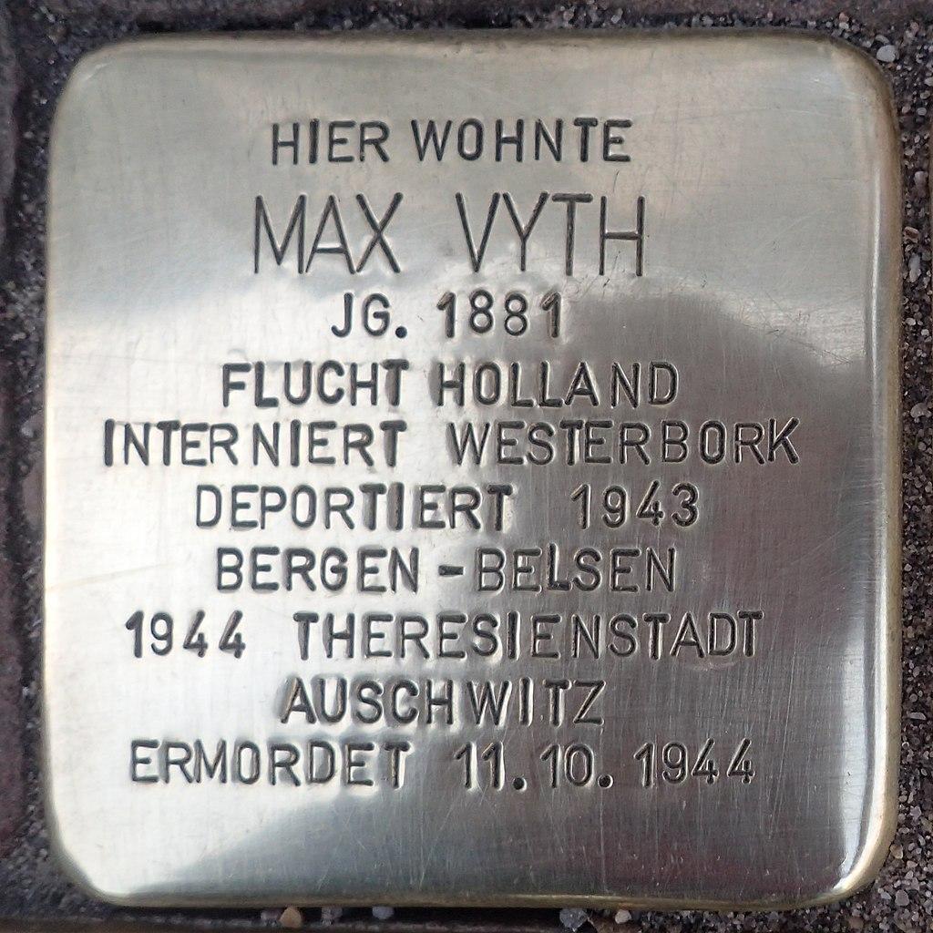 Stolperstein Kalkar Kesselstraße 19 Max Vyth