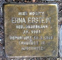 Photo of Erna Ebstein brass plaque