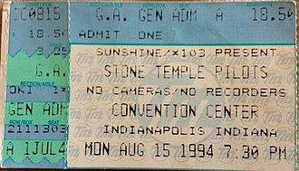 Stone Temple Pilots - Purple tour concert ticket from 1994