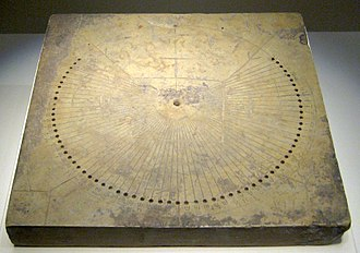 History of sundials - Chinese sundial of the Eastern Han dynasty, 2nd century AD.