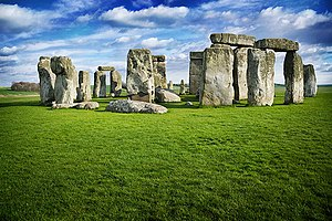 Megalith - Stonehenge, Wiltshire, United Kingdom, is one of the world's best known megalithic structures.