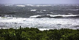 Hurricane Florence - Large swells on New Jersey coast on September 9