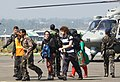 Stranded tourists from flood affected areas of Jammu & Kashmir are being evacuated to safer place by the armed forces, on September 11, 2014.jpg