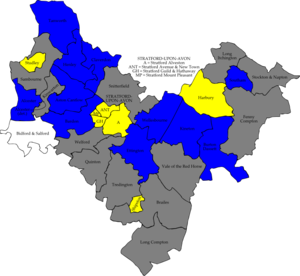Stratford-on-Avon District Council elections - Image: Stratford avon 2008 election map