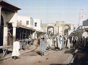 Kairouan - Bab Chouhada Street in 1899