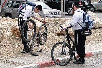 Streetside Bike Repair - Jerusalem - Israel (5681288594).jpg