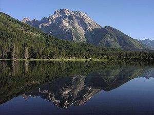 String Lake - String Lake with Mount Moran in background