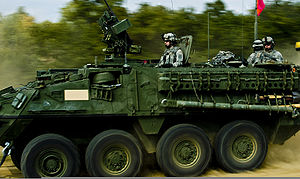 2nd Cavalry Regiment (United States) - A Stryker from the regiment participating in a Joint Task Force-East training exercise at Novo Selo Training Range, Bulgaria, 3 September 2009.