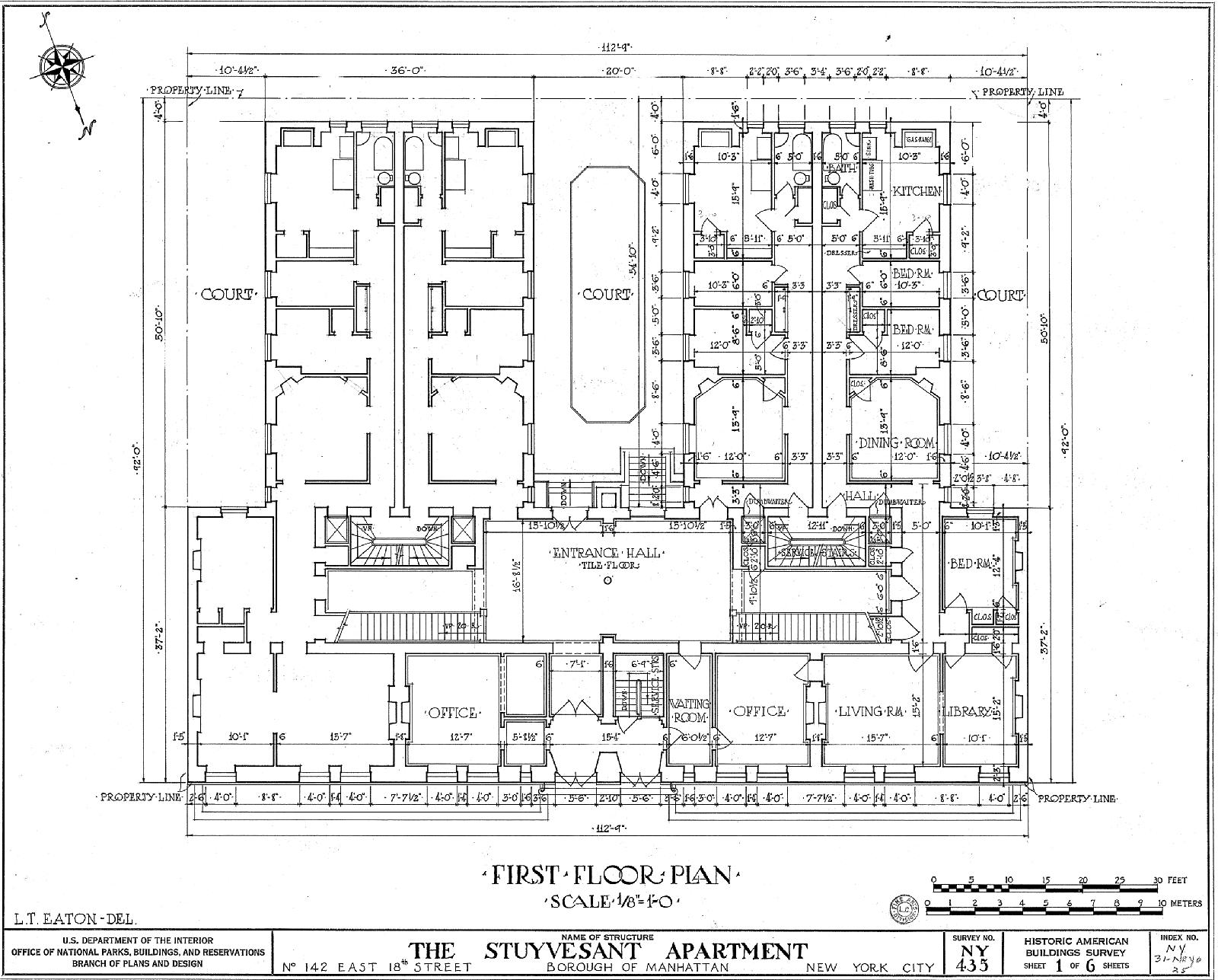 Stuyvesant Apartments Wikiwand Oliver 1600 Wiring Diagram Floor Plan