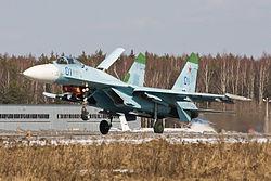 Su-27 on landing.jpg