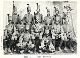 Anglo-Egyptian invasion of Sudan - Sudanese soldiers in the Egyptian army, 1899