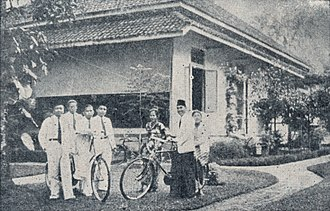 Sukarno - Sukarno at his home in exile, Bengkulu.
