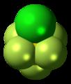 Sulfur chloride pentafluoride molecule spacefill.png