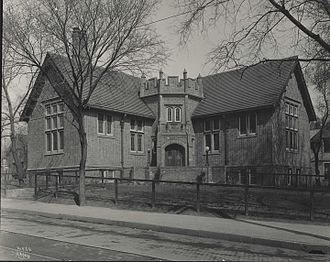Sumner Library - Image of the library before it was moved in the 1930s.
