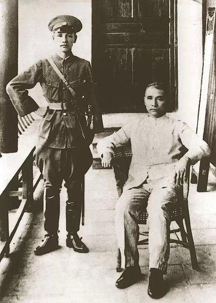 孫文(右)と蔣介石 Wikipediaより