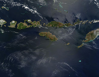Lesser Sunda Islands - Satellite picture of the Lesser Sunda Islands