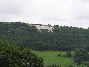 Kilburn White Horse - The White Horse near Kilburn - from Kilburn Village