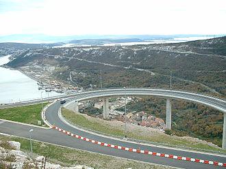Bakar - Roads above the town