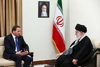 Stefan Löfven - Löfven with Iranian Supreme Leader Ali Khamenei, 11 February 2017