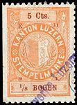 Switzerland Lucerne 1891 revenue 4 5c - 32 - E 11 91.jpg
