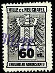 Switzerland Neuchâtel city revenue 10 60c - 31B.jpg