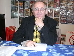 Sylvester McCoy vid The Television & Movie Store, Norwich, England, den 12 april 2008.